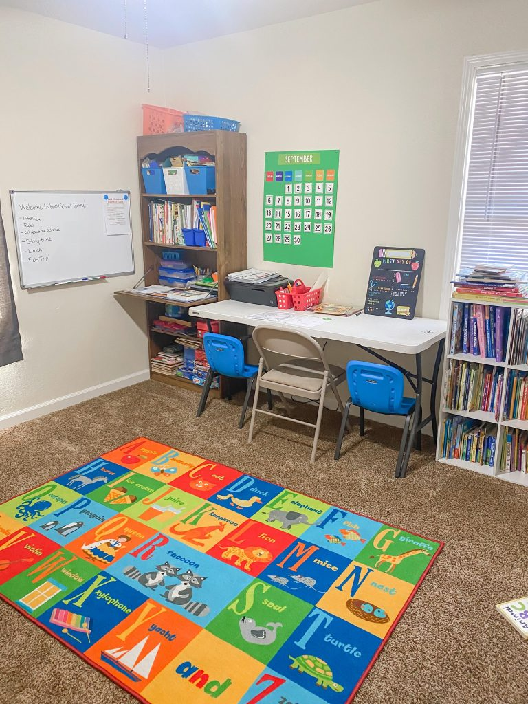 Our homeschool learning area